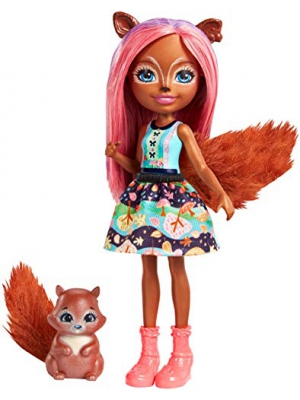 Enchantimals Sancha Squirrel Doll & Stumper