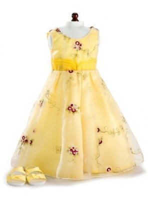 "Yellow Roses Holiday Party Dress & Shoes ~ Fits 18"" American Girl Dolls"
