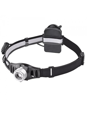 MCCC Hight Power 420 Lumens Headlamp, 90°Angle Adjustable, Focus Zoomable System Lens, Brightness Stepless Control, Great for Running, Camping, Hiking and Reading, 3xAAA Batteries Included