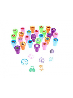 Stamps for Kids,LUCKYBIRD Best Sell Self Inking Stamps Heart Toy Stamp/kids stamp set/ Funny Plastic Stamps, 26 Count