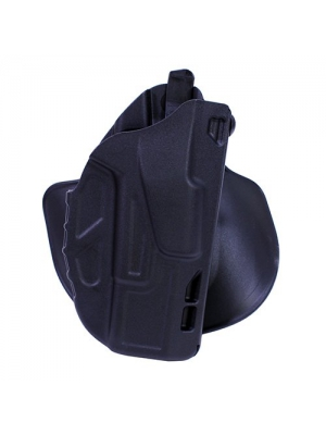 "Safariland 7378 7TS ALS Concealment Paddle & Belt Slide Holster, Glock 19, 23 4.0"", Plain Black, Right Hand"