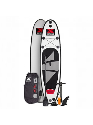 "Xterra Inflatable 10' Stand Up Paddle Board Premium SUP Bundle | Includes Board (6"" Thick), Pump, Adjustable Paddle, Easy Transport Back Pack and Repair Kit"