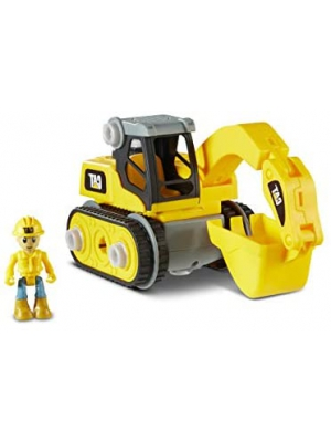 Cat Construction Build Your Own Junior Crew Excavator Building Toy, Yellow (80903)