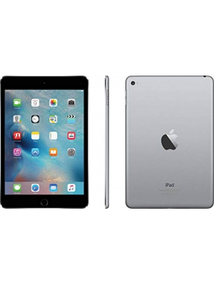 Apple iPad Mini 4 with Retina Display 128GB Wi-Fi - MK9N2LL/A Space Gray (Renewed)