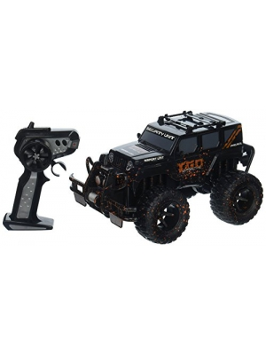Velocity Toys Mud Monster Jeep Wrangler Electric RC Off-Road Truck 1:16 Scale RTR w/ Working Headlights, Custom Mud Splatter Paint Job (Colors May Vary)