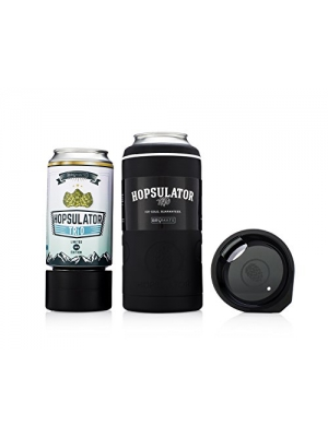 BruMate HOPSULATOR TRíO 3-in-1 Insulated Can Cooler 16oz 12oz Pint Glass (Matte Black)