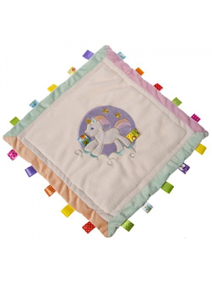 Mary Meyer Taggies Dreamsicle Unicorn Cozy Security Blanket, 16x16""