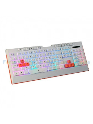 FOME QWERTY G9 Mechanical Hand Sense USB Wired Colourful Backlit Keyboard Ergonomics Mute Gaming Keyboard White+ FOME Gift