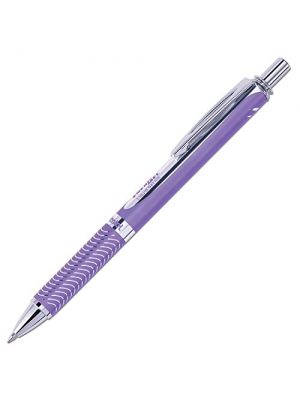 Pentel EnerGel Alloy RT Premium Liquid Gel Pen, 0.7mm Violet Barrel, Violet Ink (BL407VBPV)