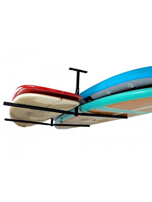 Double SUP & Surf Ceiling Storage Rack - Hi-Port 2 Overhead Hanger Mount - Home & Garage