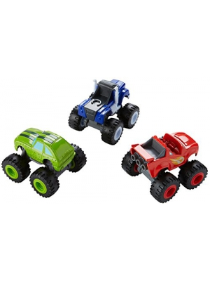 Fisher-Price Nickelodeon Blaze & the Monster Machines, 3 Pack Die-Cast Pack #1