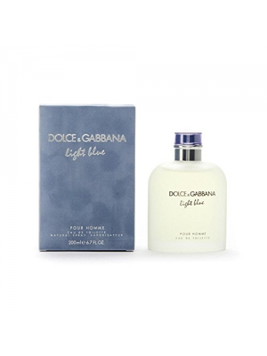 Dolce & Gabbana Light Blue Eau de Toilette Spray for Men, 6.7 Ounce