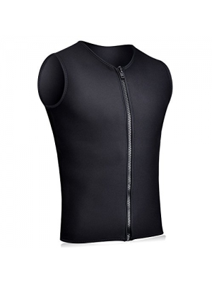 Realon Wetsuits Vest Mens Top Premium Shirt Neoprene 3mm Sleeveless front Zipper Sports XSPAN for Scuba Diving Surfing Swim Snorkel Suit