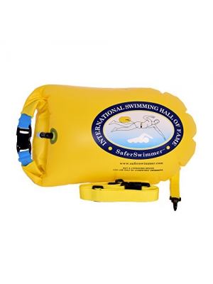 ISHOF SaferSwimmer Personal Large Swimming Float with Dry Storage