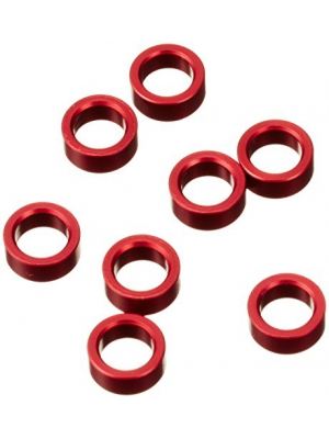 Traxxas 5133 Red-Anodized Aluminum Pushrod Spacers (set of 8)