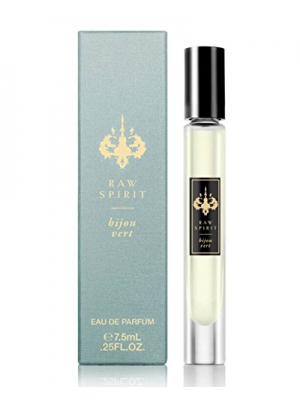 Raw Spirit Bijou Vert (Green Jewel) Luxury Eau de Parfum | Fresh Fragrance with the Sensual Depth of the Caribbean ,0.25 fl oz