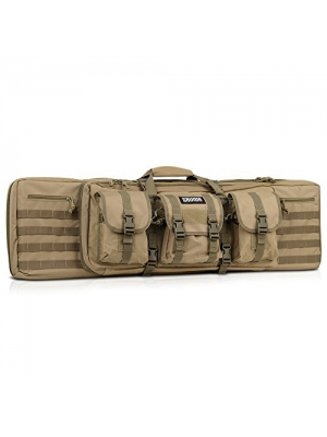 "[Savior Equipment] Tactical Double Long Rifle Pistol Gun Bag Firearm Transportation Case w/ Backpack - Lockable Compartment, Available Length in 36"" 42"""
