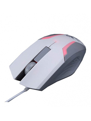 WQSuma Whitegray Game Wired Mouse For Laptops PC And Mac Computers