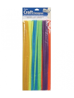 Chenille Stems - 6mm - Assorted Neon Colors - Big Value - 100 pieces