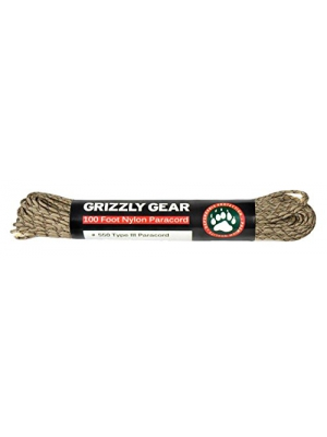 Paracord - Type III Premium Paracord: 100 Feet, 550 LB Strength by Grizzly Gear