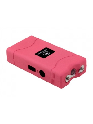 VIPERTEK VTS-880 - 400,000,000 Mini Stun Gun - Rechargeable with LED Flashlight, Pink
