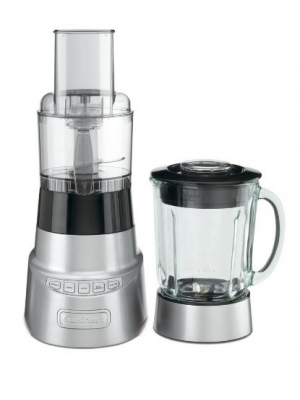 Cuisinart SmartPower Duet Deluxe 600-Watt Blender AND Food Processor, with a 48 Oz Glass Blender Jar, and High, Low, Pulse and Ice Crushing Controls, Includes a 3-Cup Food Processor Attachment, Stainless Steel Shredding and Chopping Blades, with a Safe 2-
