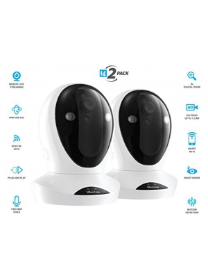 Vimtag P1 Smart HD [2-Pack] | WiFi Video Monitoring Surveillance Security Camera