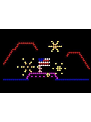 Lite Brite Refill: Holiday (9x12 RECTANGLE) - FOR 70's ERA VINTAGE LITE BRITE - Buy any 3, Get 33% OFF