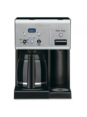 Cuisinart Coffee Plus 12-Cup Programmable Coffeemaker with Hot Water System, Black/Stainless (Certified Refurbished)