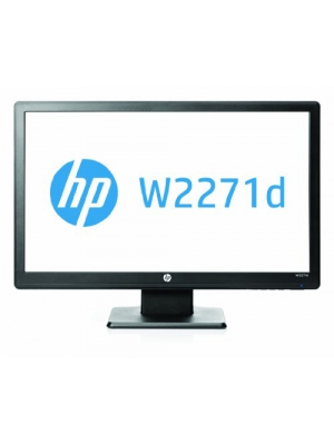 "HP W2271d 21"" LED Monitor, 60Hz, 200nits, 1920x1080, Internal Power Supply"