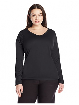 Kanu Surf Women's Plus Size Solid UPF 50+ Long Sleeve Swim Shirt Rashguard