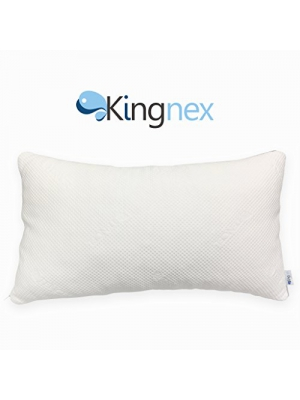 Standard Size Kingnex Latex Foam Pillow Hypoallergenic Shredded Cooling Bed Pillow with Removable Rayon Cover