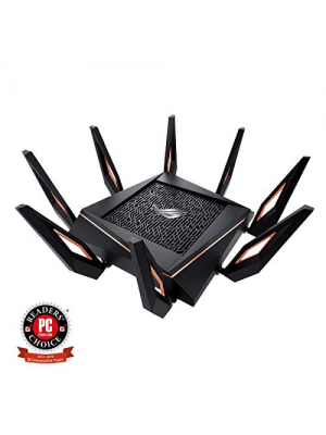Asus ROG Rapture GT-AX11000 AX11000 Tri-Band 10 Gigabit WiFi Router, Aiprotection Lifetime Security by Trend Micro, Aimesh Compatible for Mesh WIFI System, Next-Gen Wifi 6, Wireless 802.11Ax, 4x Giga