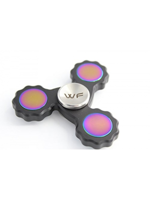 WeFidget's Premium Finish, No Wobble, Fully Replaceable Bearings, EDC Hand Spinners (Black Gear)
