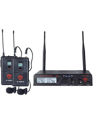 NADY U-2100 LT/O (BAND A/B) UHF Dual 100-Channel Wireless Lavalier Handhe...
