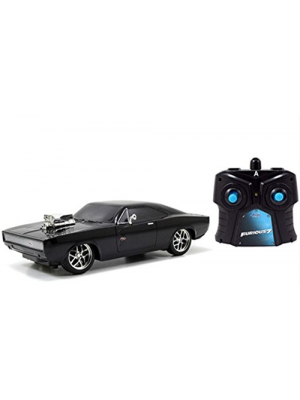 Fast & Furious 1/24 Dom's '70 Dodge Charger R/T Radio Control Car R/C by Jada