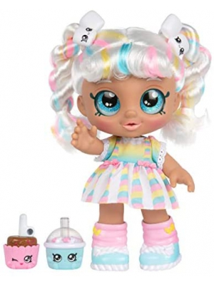 Kindi Kids Snack Time Friends - Pre-School Play Doll, Marsha Mello - for Ages 3+ | Changeable Clothes and Removable Shoes - Fun Snack-Time Play, for Imaginative Kids