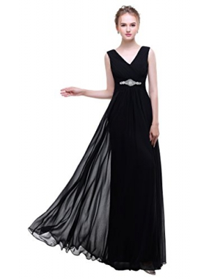 esvor Esovr V Neck Chiffon Long Formal Evening Gown Bridesmaid Dresses Prom Dresses