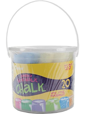 Darice Assorted Sidewalk Chalk, Jumbo, 20-Pack