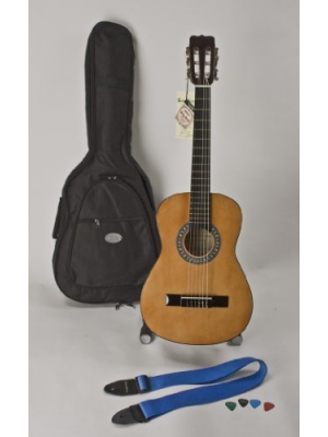 "1/2 Size 34"" Left Handed Nylon String Guitar, Much Higher Quality, Includes Strap, Picks & Case Great For Children 5-8 Completely Set-up In My Shop For Easy Play Free U.S. Shipping"