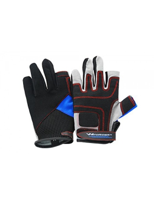 WindRider Pro Sailing Gloves - 3/4 or Full Finger - Padded Palm and Amara Reinforcement - Mesh back for comfort - Perfect for Sailing, Paddling, Canoeing or SUP - Sizes for Men, Women and Kids