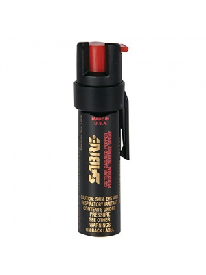 SABRE 3-IN-1 Pepper Spray - Police Strength - Compact Size with Clip (Max Protection - 35 shots, up to 5x's more)