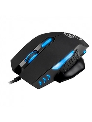 PowerLead Qant2 High Precision 2400DPI with 4 Levels of DPI Optical Wired Gaming Mouse with Side Control