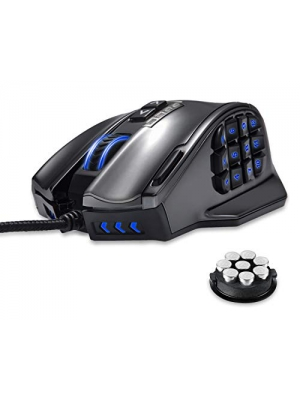 Gaming Mouse, UtechSmart Venus 16400 DPI High Precision Laser MMO Gaming Mouse Vacuum Plating Version