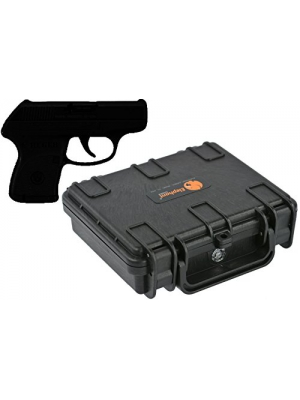 Elephant Concealed Carry Small/Mini Handgun Hard Case E090 for Ruger LCP 2 Lc9 Taurus Pt738 Pt709 Sccy Cpx-2 Keltec P-3at P11 Pf9 Cobra Ca380 Bodyguard 380 Glock 42 and Any Gun Under 6""