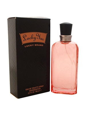 Lucky You By Lucky Brand For Women. Eau De Toilette Spray 3.4 Oz.