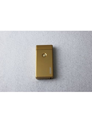 Best Double Arc USB Gold Electric Rechargeable Arc Lighter, Enji Prime, spark At The Push Of a Button, Flameless, Windproof, Eco Friendly & Energy Saving