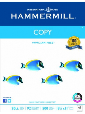 Hammermill Paper, Copy Poly Wrap, 20lb, 8.5 x 11 Inches, Letter, 92 Bright, 500 Sheets/1 Ream (150010), Made in the USA