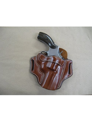 "Smith & Wesson S&W 10, 19, 66, 686, 586 2""-3"" Revolver Leather 2 Slot Molded Pancake Belt Holster CCW TAN RH"