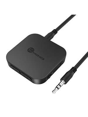 TaoTronics Bluetooth 4.1 Transmitter/Receiver, Wireless 3.5mm Audio Adapter (aptX Low Latency, Pair 2 At Once, For TV/Car Sound System, Volume Control)